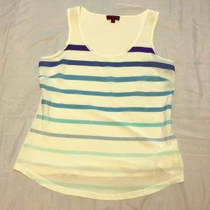 The Limited blue ombré stripe top